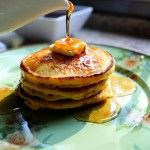 Mmm cornmeal pancakes with blackberry syrup...from who else but the lovely Pioneer Woman.