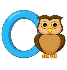 Alphabet o with owl cartoon vector Angry Cartoon, Cartoon Whale, Penguin Cartoon, Horse Cartoon, Cartoon Elephant, Happy Cartoon, Free Vector Images, Vector Free, Bubble Alphabet