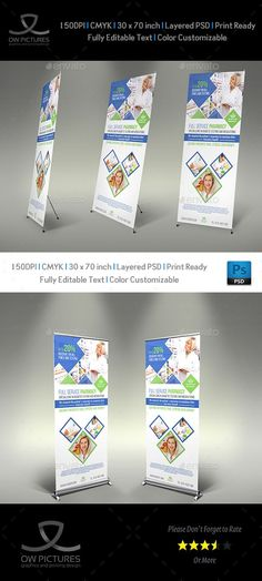 Pharmacy #Signage #Roll Up Banner Template Vol.2 - #Signage Print Templates