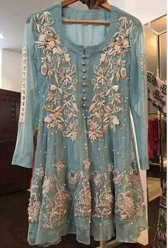 Embroidery Round Neck Regular Long Sleeve Mid-Length Blouse – co-zy-free Party Wear Dresses, Bridal Dresses, Design Textile, Desi Clothes, Festival Looks, Pakistani Bridal, Pakistani Party Wear, Indian Bridal, Pakistani Outfits