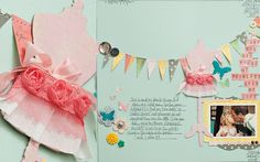 adorable dress form and banner from maggie holmes Scrapbooking