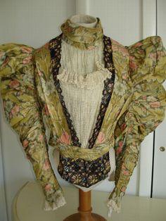 Late 19th century two peice dress labeled: Melles Delaporte - Paris - Batignolles.