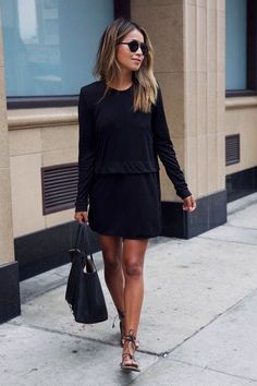 Casual Black Dress Outfit Ideas