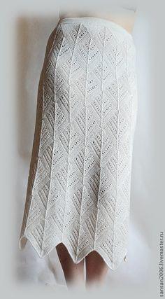 Купить юбка, просто вязаная юбка... - белый, вязание спицами, вязанная одежда, теплая юбка
