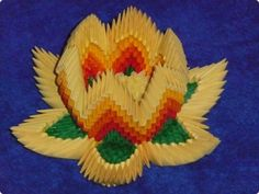 Origami lotus flowers made of paper