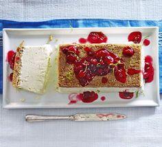 Lime semifreddo cheesecake   BBC Good Food