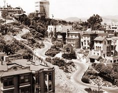 Known as the curviest street in San Francisco, Lombard Street is a famous tourist attraction.