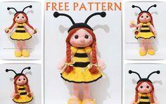 Amigurumi,amigurumi dolls,amigurumi örgü oyuncak,amigurumi örgü oyuncak yapılışı,crochet doll,handmade toys,handmade dolls,free pattern dolls,free pattern dolls,bee girl dolls,tiny mini design
