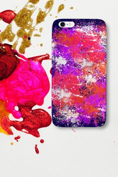 A splash of color to brighten up your weekend🎨 Phone case for iPhone or Samsung. #watercolorcase #tiedyecase #phonecase Color Splash, Iphone Cases, Samsung, Watercolor, Painting, Pen And Wash, Watercolor Painting, Paint Splats, Painting Art