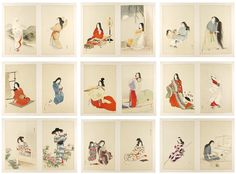 【湯川松堂「今古風俗百美人」】 湯川松堂  Yukawa Shodo 今古風俗百美人  One Hundred Beauties Depicting Modern and Ancient Manners