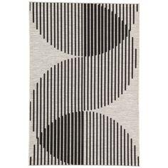 Minka Indoor/Outdoor Rug, Silver and Black