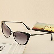 100% uv400-olho de gato de metal retro óculos de sol