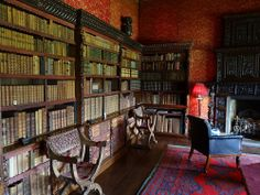 Chirk Castle, Wales interior | The library at Chirk castle, Wales+