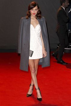 Take inspiration from 2013's best holiday outfits like Alexa Chung's, here: