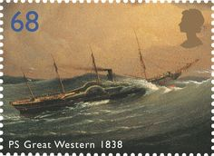 Great Western 1838 #SpecialStamp from 2004 'Ocean Liners'