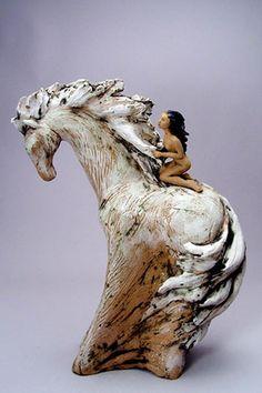 clay, hors, art, denis romecki, inspir, ceramics, ceramic sculptures, potteri, ceram sculptur