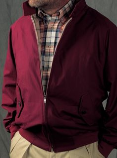 The G-9 Jacket in Burgundy. A sharp/casual combination.