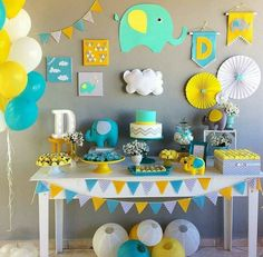 Best selection of DIY party supplies for kids and adults. Party planning profess… Best selection of DIY party supplies for. Cadeau Baby Shower, Idee Baby Shower, Shower Bebe, Baby Boy Shower, Deco Elephant, Elephant Party, Elephant Baby Showers, Elephant Theme, Baby Party