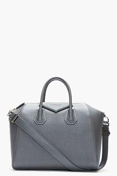 5ebf899eb45b GIVENCHY Grey textured leather Antigona duffle Givenchy Antigona