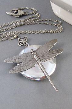 DragonflyLocketDragonfly NecklaceDragonfly by ValleyGirlDesigns, $31.00