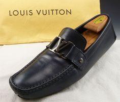 LOUIS VUITTON sz 9.5 MONTE CARLO BIT DRIVERS FA0121 MENS BLUE fits US 10.5 $665 #LouisVuitton #DrivingMoccasins #distinctivedeals