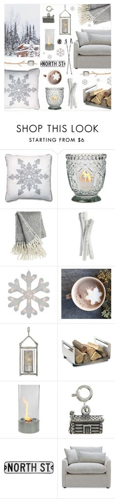 """Cozy Chic Winter Cabin"" by theseapearl ❤ liked on Polyvore featuring interior, interiors, interior design, home, home decor, interior decorating, Cultural Intrigue, Varaluz, blomus and homedecor"