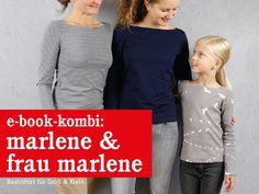 FrauMALENE & MARLENE Shirts im Partnerlook, ebook von schnittreif auf DaWanda.com