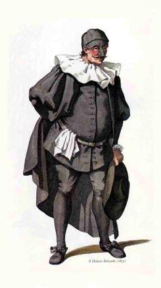 Balanzone, è la maschera tipica di Bologna, dottore saccente e ciarliero. E' un personaggio burbero e brontolone che fa credere di essere un grande sapiente, ma molto spesso truffa la gente. La storia dice che è un avvocato ed un professore che ha studiato all'Università di Bologna.