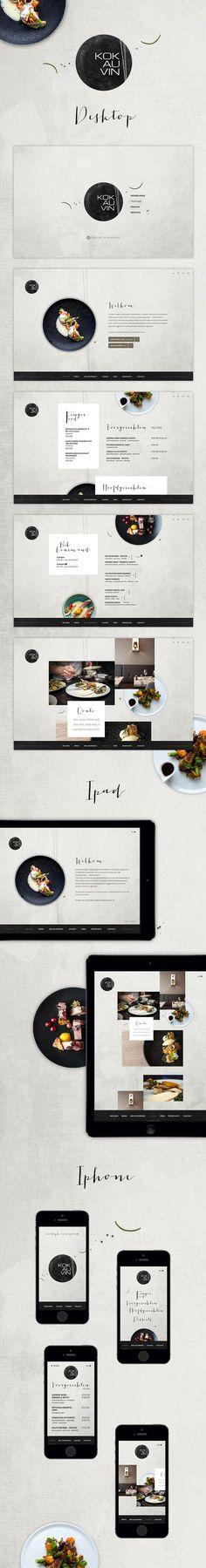 """New #website for #restaurant """"Kok au Vin"""" in Bruges. http://www.kok-au-vin.be"""