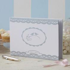 Love birds gastenboek  op Weddingdeco.nl