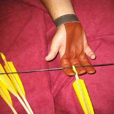 3 Finger Archery Glove-Deer/Deer