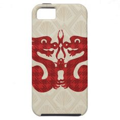 Fun Red Chinese Dragons iPhone 5 Cover