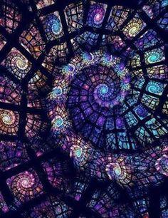 by ~monsan Digital Art / Fractal Art / Raw Fractals ~ DeviantArt Stained Glass Art, Stained Glass Windows, Mosaic Glass, Window Glass, Glass Vase, Stained Glass Church, Roof Window, Blue Mosaic, Leaded Glass