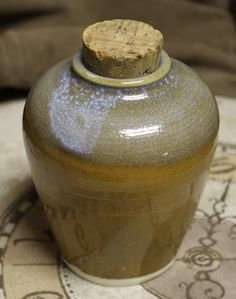White Stoneware Jar of Stars by brambledragon on Etsy, $12.00