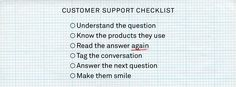 How to use checklists to improve customer support - Inside Intercom