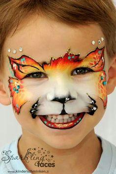 cat facepaint Looks like mark reid