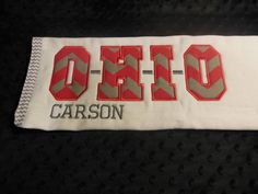 Ohio State Burp Cloth by TWINSANDQUINN on Etsy, $12.00