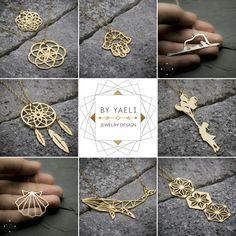 Original and unique goldfilled necklaces from the new collection @ByYaeli store on Etsy!!! www.byyaeli.Etsy.com  #byyaeli #geometric #etsyshop #etsyjewelry  #etsyseller #origaminecklace #origami