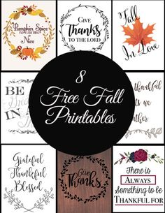 8 Free Fall Printables