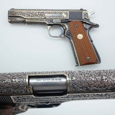 Colt Super - Full coverage engraving is definitely in play for this Colt…