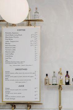 royal exchange grind coffee shop and bar london | wanderlust design on coco kelley Menu Board Design, Cafe Menu Design, Cafe Shop Design, Cafe Interior Design, Menu Restaurant, Restaurant Design, Modern Restaurant, Restaurant Identity, Menu Café