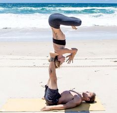 Ashley Galvin and Dylan Werner #acroyoga