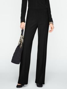 Talbots Hollywood double weave pants in black.  I love these pants so much.  Perfect for tall, long waisted women.