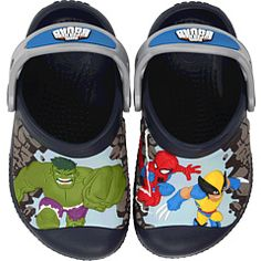 Crocs Kids - Marvel Super Hero Squad™ Jumps Into Action Custom Clog.  I want these for Zach!