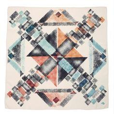 """""""Parcheesi"""" silk scarf by SuTurno http://www.suturno.net/"""