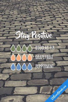 Stay positive - douglas fir, grapefruit and peppermint