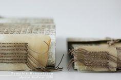 Papieren Avonturen: linen thread, parchment, tyvek