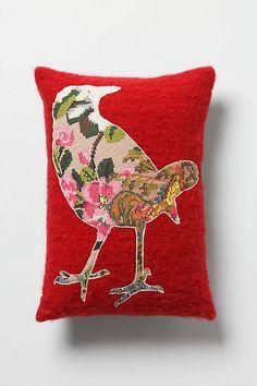 Blooming Wren Pillow - anthropologie.com
