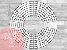 Free Filofax / Bullet Journal Printable | Circle Habit Tracker Printable