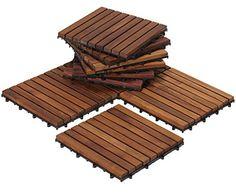 Bare Decor EZ-Floor Interlocking Flooring Tiles in Solid Teak Wood Oiled Finish (Set of Long 9 Slat – Home & Living – Home Improvement Ideas and Inspiration